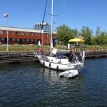 Vid marinan i Ventspils